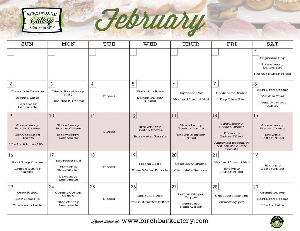 Calendar of donuts