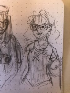 Sketch of Kate