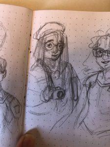Sketch of Caitlin