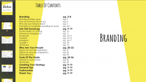 Screenshot of intern's layout design