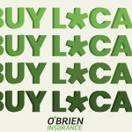 Buy local graphic for O'Brien Insurance